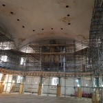Scaffolding work at St Johns Church at Hackney – Refurbishment Works.